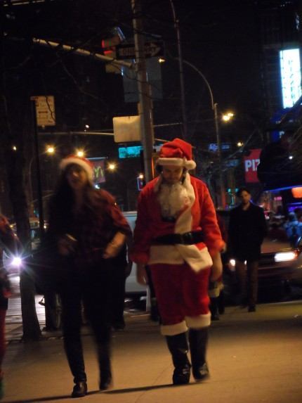 This was the saddest Santa I saw