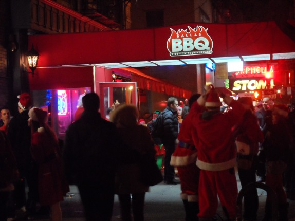 Who knew Santas love BBQ?