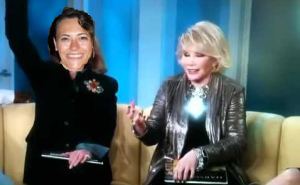 Joan Rivers and me doing a segment on The View, before we grab some lunch.
