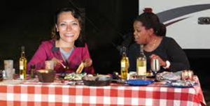 Oprah and me on a picnic