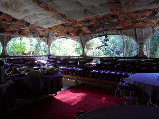 Our private breakfast area/ nap space.