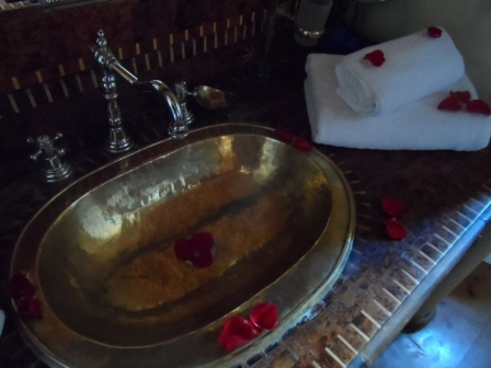 I would definitely suggest staying at Riad Chbanate. You know I'm a fan of the cooper sinks!