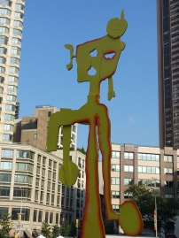 The funky sculpture in the Lincoln Center courtyard.