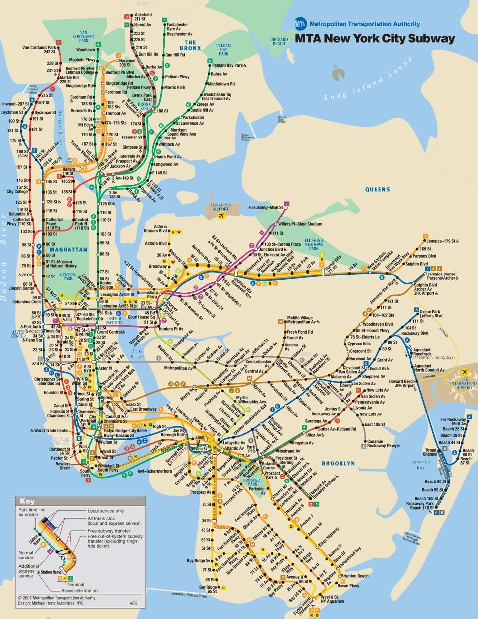 5 Train Subway Map