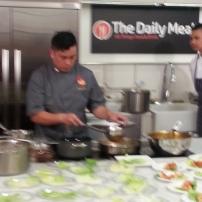 Chef Wayne Liew giving the demonstration