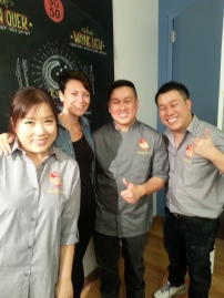 Me with the awesome cooking staff of Keng Eng Kee.