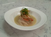 The elegant soup. Too bad I couldn't eat it elegantly.
